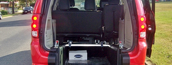 Rear Entry commercial wheelchair accessible rear entry van