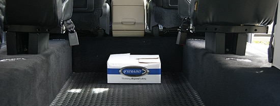 Commercial Wheelchair Accessible Vans interior