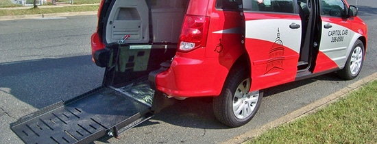 Commercial wheelchair accessible vans, conversion wheelchair accessible taxi