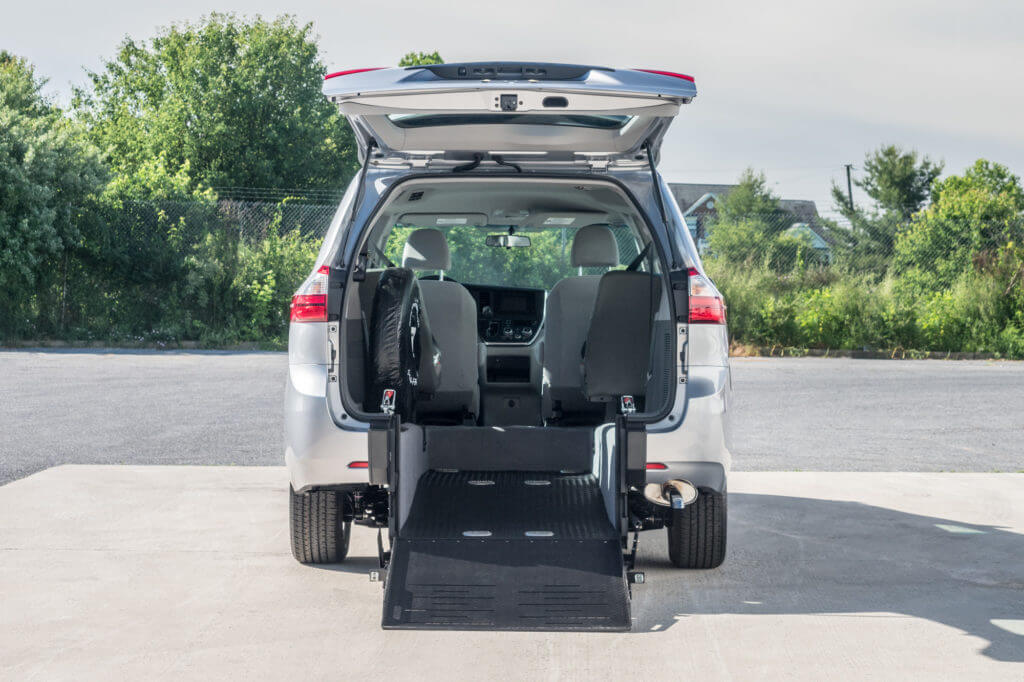 Toyota Sienna wheelchair accessible rear entry van