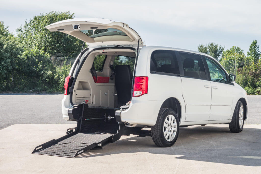 Dodge Caravan Rear entry wheelchair accessible conversion mini van