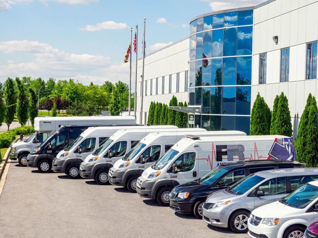 fleet of conversion vans